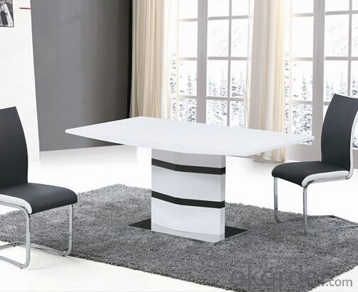 High Gloss Medium Density Fiber Board Dining Table