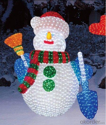 Santa Clause Sculpture 3D Motif light Acrylic Led Christmas Decorations