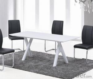 White High Gloss  Dining Table, Fashionable Choice