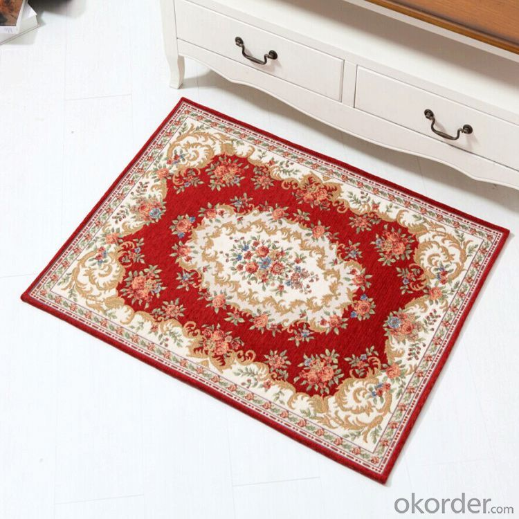 Hot Sale Luxury Polyester Jacquard  Carpet for Door