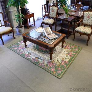 Fashion Chenille Jacquard Carpets and Rugs for Tea table