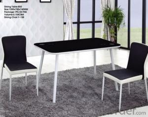 Hot-selling Wood and Glass Dinning Tables