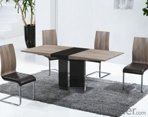 Medium Density Fiber Board  Extension Dining Table