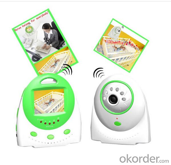 temprerature display two way talk wireless digital baby monitor