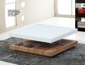 Coffee Table by Medium Density Fiber Board and Tempered Glass