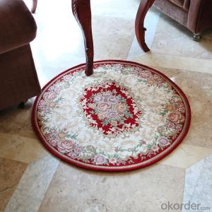 Round Shape Polyester Jacquard  Indoor Carpet