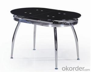 Popular Glass  and Chromed Frame Dining Table