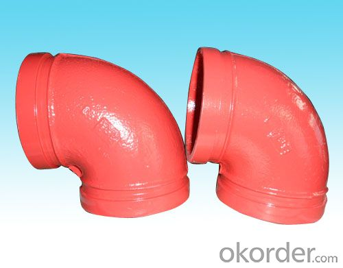 Iron Grooved Fitting of Flexible Coupling Street Elbow