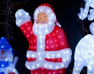 Santa Claus 90CM 300 Christmas Motif Lights With CE ROHS Certificate