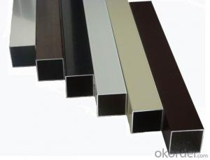Aluminium Square Tube Profile used on Furnitures