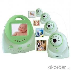 2.4 inch temprerature display two way talk wireless digital baby monitor