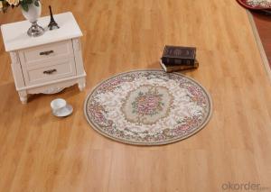 Round Shape Polyester Jacquard  Indoor Carpet