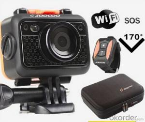 Wifi Sport Camera with HD Resolution,Waterproof to 60 Meters Without Case