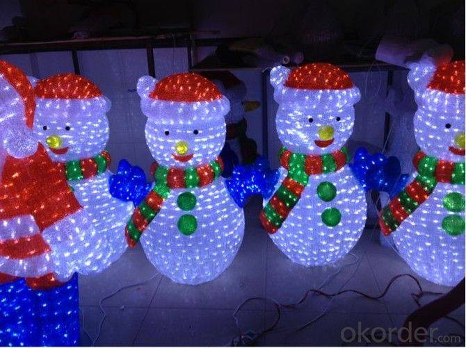 Factory Price 3D Led Christmas Sculpture Motif Light With Certification