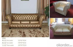 CNBM bounded leather chesterfield sofa CMAX-10