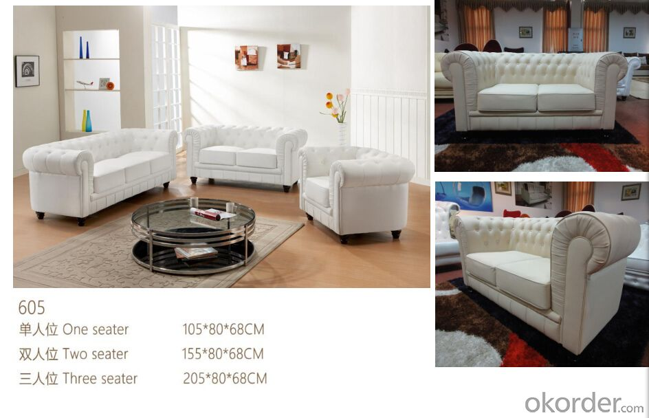 CNBM bounded leather chesterfield sofa CMAX-11