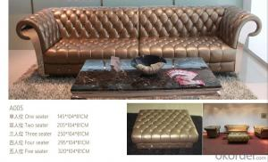 CNBM bounded leather chesterfield sofa CMAX-04