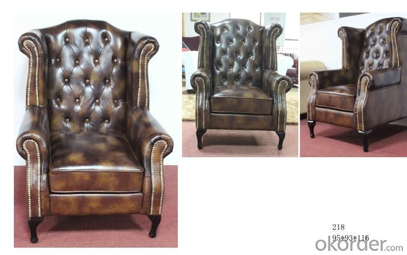 CNBM bounded leather chesterfield sofa CMAX-14