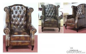 CNBM bounded leather chesterfield chair CMAX-14