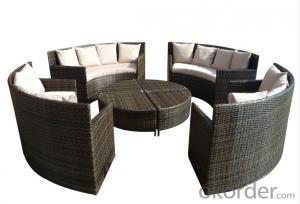 Patio PE Rattan Outdoor Wicker Sofa Garden Furniture