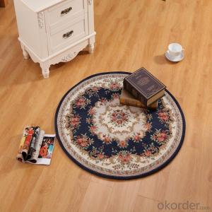 Low Pile Chenille Polyester Jacquard  Carpets and Rugs with Good Quality