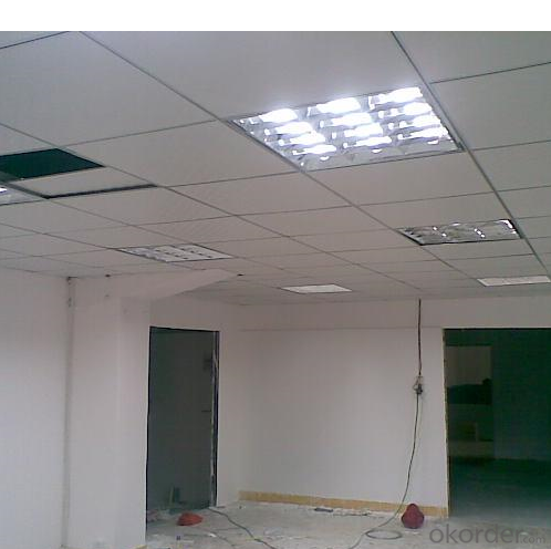 PVC  Laminated  Gypsum Ceiling Glassfiber Gypsum Ceiling Tiles