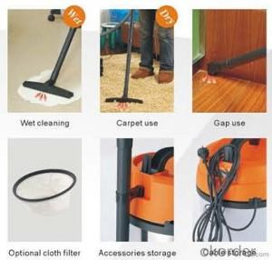 Drum vacuum cleaner with Inlet HEPA Filter Wet and Dry Metal Barrier