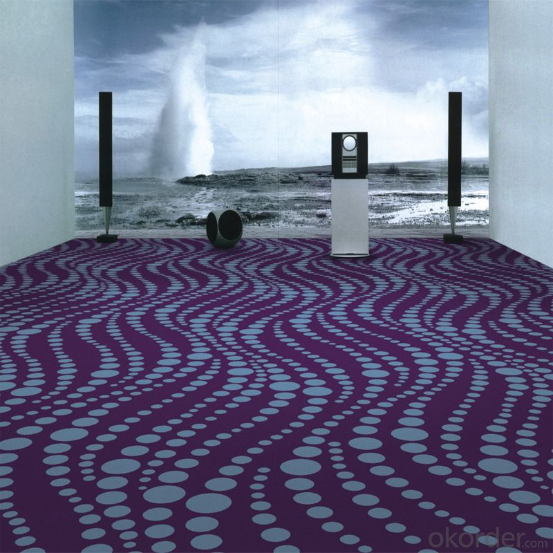 Wave Design 100% Nylon Printing Carpet for Luxury 5 Star Hotel