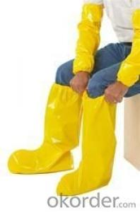 Latex boot cover Large High quality Yellow