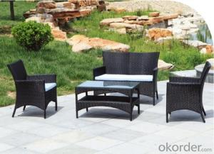 Patio Table and Chair with Wicker Rattan Garden Furniture