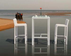 White Rattan Outdoor Furniture Rattan Bear Bar Set  CMAX-MJT2038