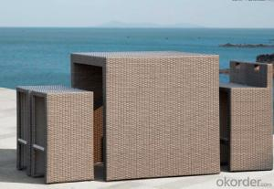 Outdoor Furniture Rattan Bear Bar Set  CMAX-MJT0107816