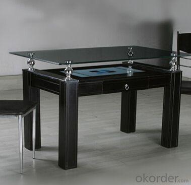 Black Lacquer Medium Density Fiber Board Dining Table