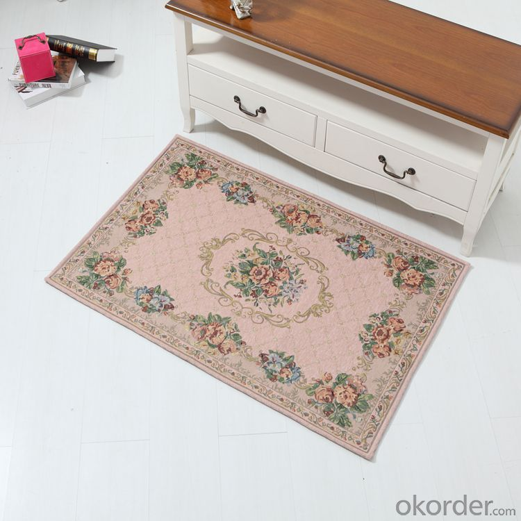 Luxury Chenille Polyester Jacquard  Door Mats from China