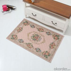 Custom Design Chenille Polyester Jacquard  Door Carpets and Rugs