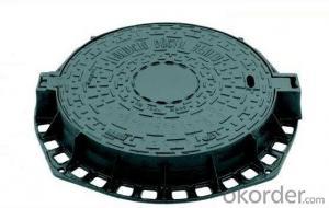 Manhole Covers EN124 GGG30 Ductule Iron B125 Bitumen Laye