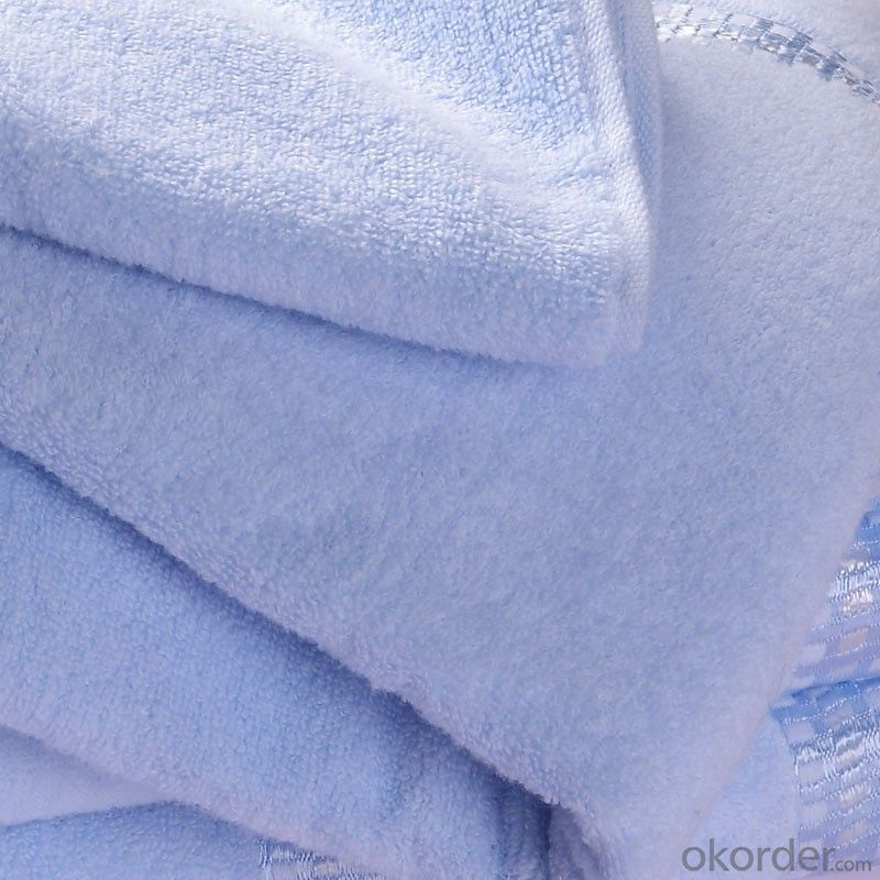 Microfiber cleaning towel with simple blue