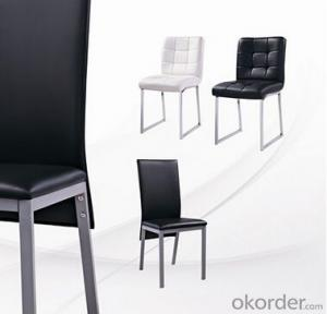 PVC Leather and Chromed Steel Dinning Chair