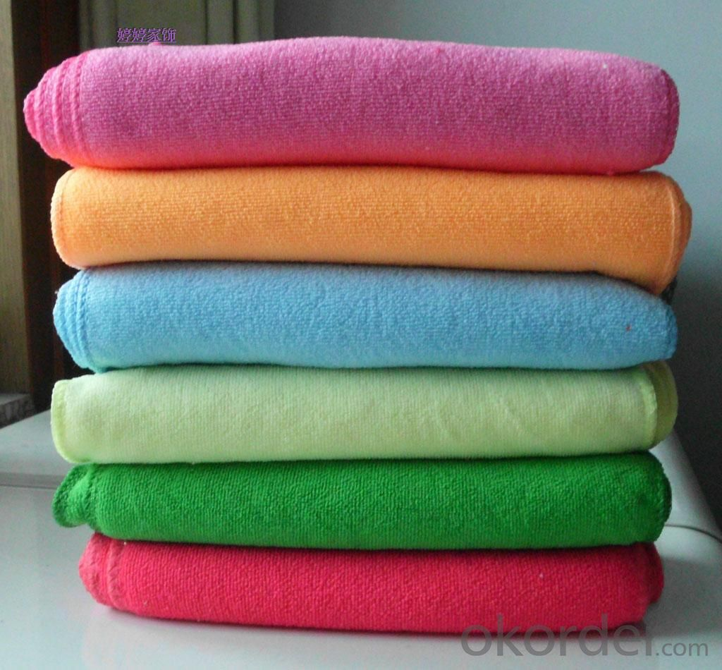 Microfiber cleaning towel with many-colors