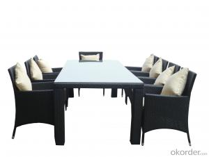 Outdoor Rattan  Chair Patio Furniture Garden Dining Set