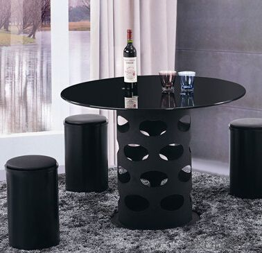 Fashion Design Hot Sale Dining Table in Black Color