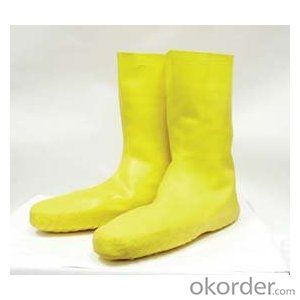 Latex Shoes Disposable High quality Yellow