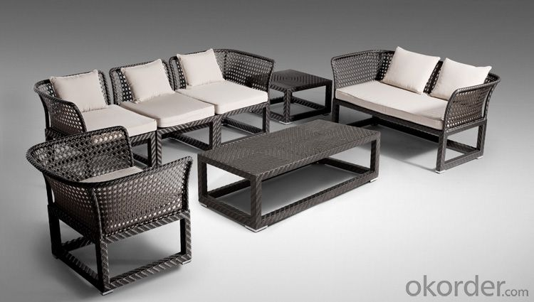 Garden Furniture  Patio  with Wicker Rattan Outdoor Sofa