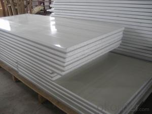 single color caoted steel sheet PU PANEL for roofing