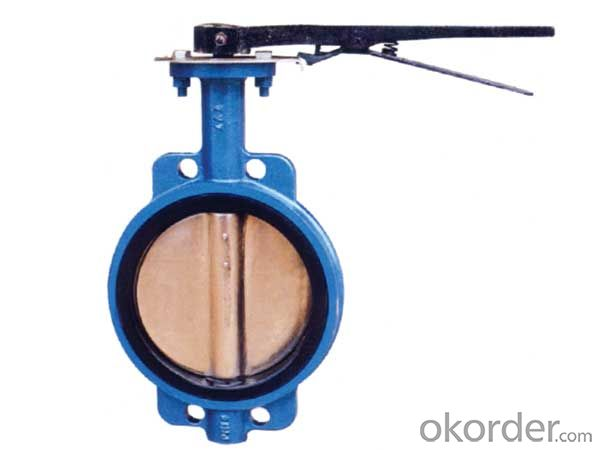Ductile Iron wafer butterfly valves DN400