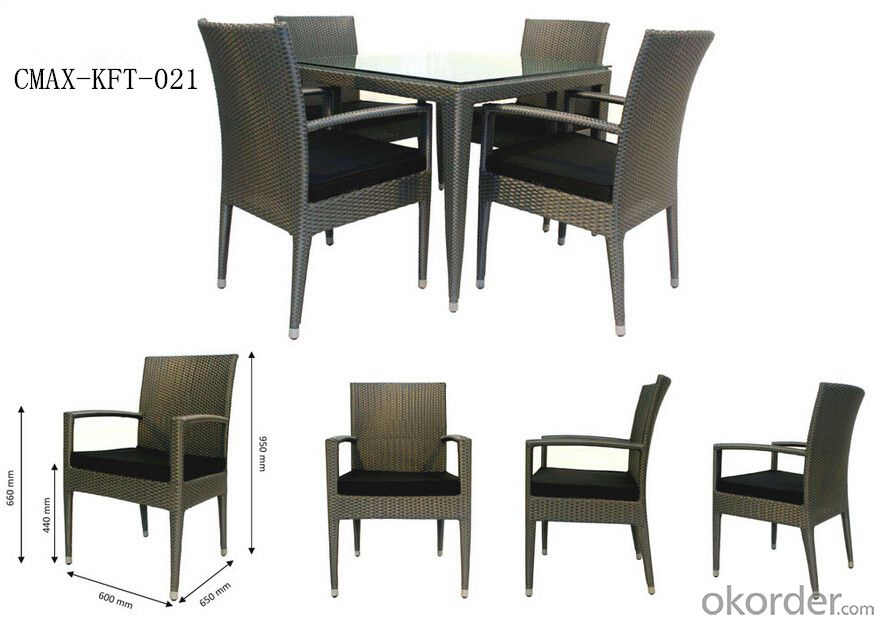 Professional Outdoor Rattan Furniture with Competitive Price CMAX-KFT-021