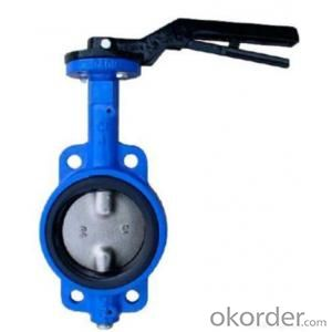 Ductile Iron wafer butterfly valves DN440