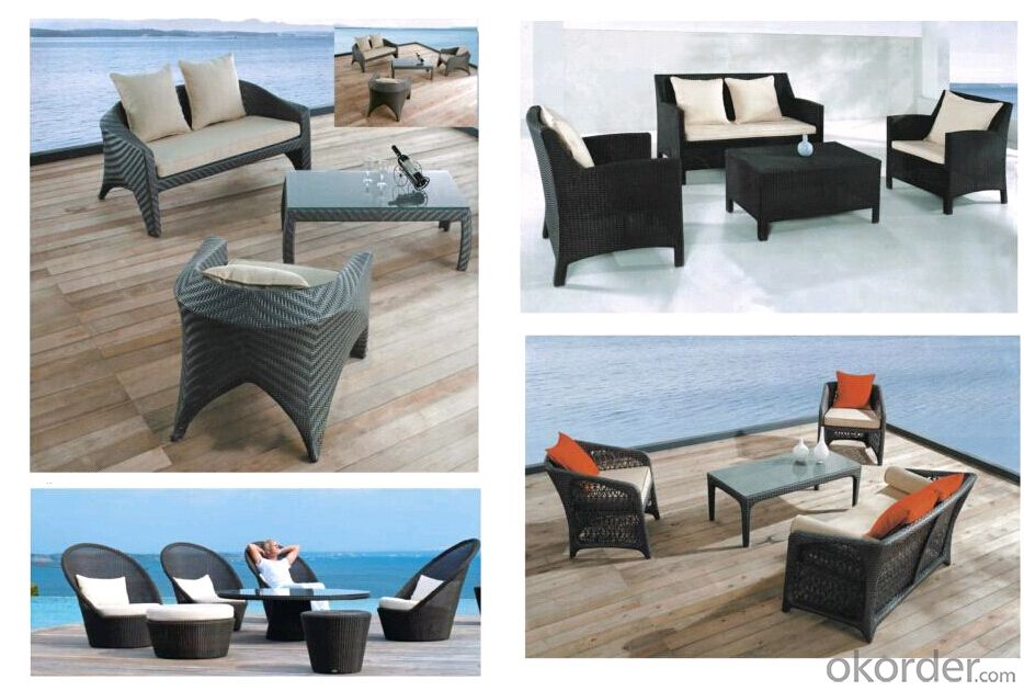 Garden Plastic Sofa Luxury Outdoor Furniture