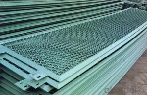 Highway anti glare mesh fence/metal mesh/metal expanded mesh