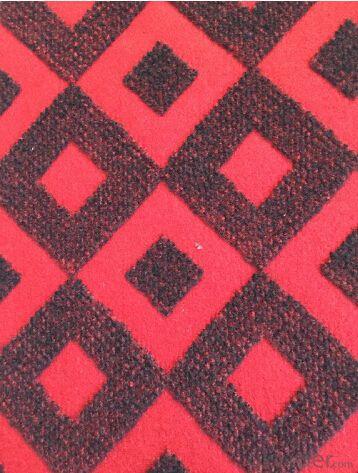 Customized double color jacquard non woven carpet